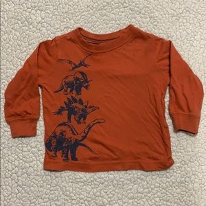 Carter's Baby Boys Long Sleeve Dino Shirt SZ 9m